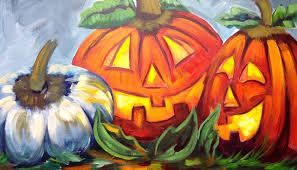 how to paint pumpkins jack o lanterns cute halloween art youtube