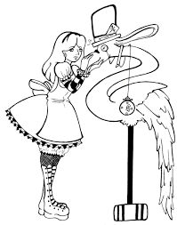 alice in wonderland coloring page 4810