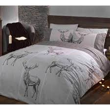 charcoal bedding highland stag double duvet cover sets red grey charcoal wildlife