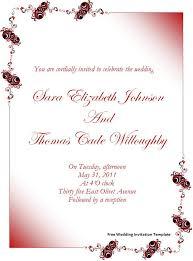 free sample wedding invitations templates orax info