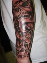 castle lower leg tattoo design for girls