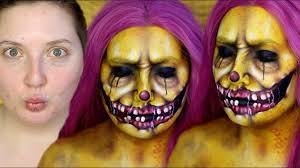 Insane Halloween Makeup by Colorful Creepy Clown Halloween Makeup Tutorial Youtube