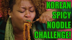 Glozell Challenge Korean Spicy Noodle Challenge Glozell
