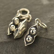 peas in a pod charm sterling silver two peas peas in a pod pea pod charm pea pod