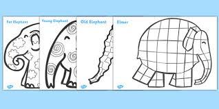 Elmer The Patchwork Elephant Story - elmer patterns colouring sheets pinteres