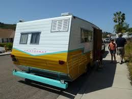 great paint job on a vintage aristocrat travel trailer vintage