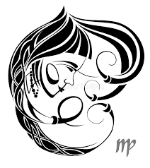 virgo zodiac vector sign tattoo design stock vector image 21812735