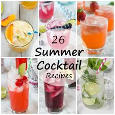 cocktail recipes poster blue vodka lemonade