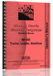 massey ferguson 30e industrial tractor operators manual products