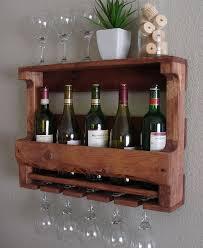 rustic wine rack spice rack wall mounted wine bottle holder wine