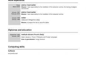 Example Waitress Resume by Waiter Waitress Resume Example Free Wait Staff Resume Sample