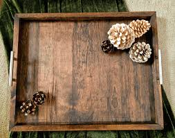 Wood Ottomans The Horizon Handcrafted Wood Ottoman Tray Large Custom Tray