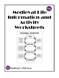 medieval life information and activity worksheets serfdom