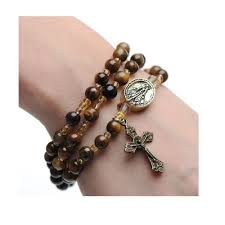tiger eye jewelry its properties tiger eye rosary wrap bracelet the catholic company