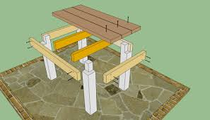 Build Wooden Patio Table by Diy Outdoor Table Diy Outdoor Tables Plans Pdf Plans Download