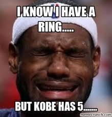 Lebron Crying Meme - crying kobe has 5