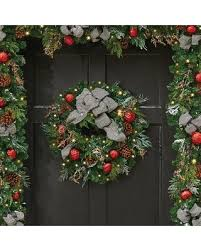 special improvements 24 pre lit houndstooth wreath