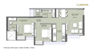 2 Bhk Floor Plans 1 U0026 2 Bhk Unit Plan Codename Bullseye By Lodha Group