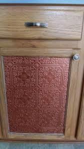 Change Cupboard Doors Kitchen by I Used A Ceiling Tile As An Insert For My Kitchen Cabnet Door And