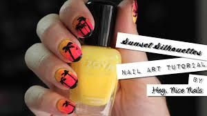 nailgasmtv sunset silhouettes gradient nails tutorial w hey