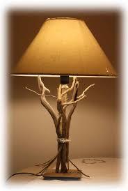 lampe de chevet montagne lampe en bois flotté