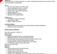 Security Guard Resume Example by Security Guard Resume Skills Writing Resume Sample Writing