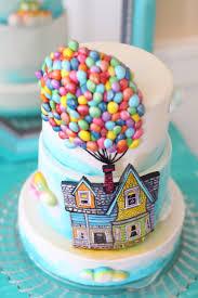 themed cakes up themed cake a billion tiny made fondant balloons