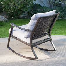 Wicker Rocking Chairs For Porch Coral Coast Losani All Weather Wicker Outdoor Rocking Chair Set