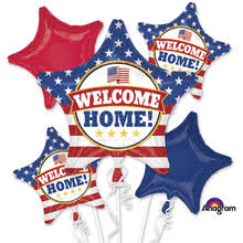 welcome home balloons delivery welcome back patriotic bouquet of balloons portland balloon delivery