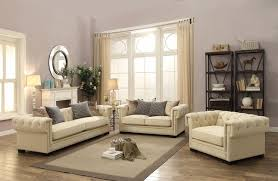 sofa creme tufted sofa set in sophisticated velvet with 8 way suspension