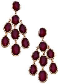Colorful Chandelier Earrings Blu Bijoux Gold And Colored Stone Bianca Chandelier Earrings