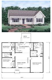 ranch house plans with 2 master suites ranch homeplan 45476 has 1258 square of living space 3
