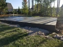 concrete slabs raleigh nc garage patio barn