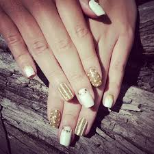 white and gold nails design gallery nail art designs