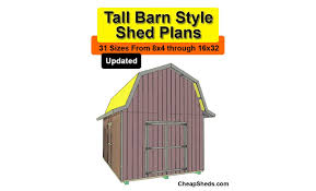Gamble Roof Tall Barn Style Shed Plans In 31 Sizes Youtube