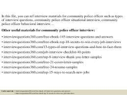 top 10 community police officer interview questions and answers
