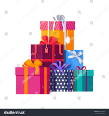 wrapped gift boxes big pile colorful wrapped gift boxes stock vector 487030069