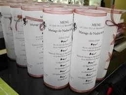 idee menu mariage idée déco pour menu décoration forum mariages net