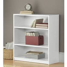 Mainstays 3 Shelf Wood Bookcase Multiple Colors Walmart Com White Bookcase Walmart