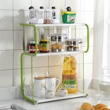 3 tier rack kitchen bathroom countertop storage organizer spice