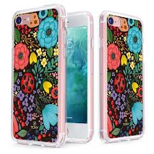 gold rose pattern 8319 iphone 7 ladybug in the jungle case slim protective cover by tcny