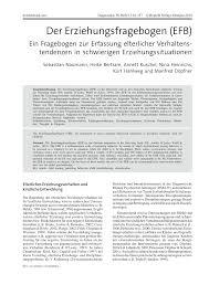 K Hen In U Form G Stig Der Erziehungsfragebogen Efb Ein Fragebogen Zur Erfassung