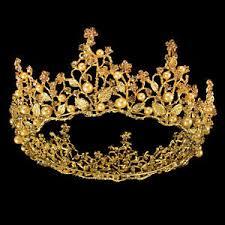 wedding tiaras baroque bridal pearls rhinestone wedding tiaras prom gold