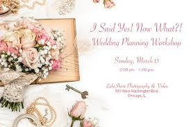 wedding planning classes wedding planning classes chicago wedding planning workshop for