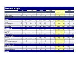 Excel Personal Budget Template Budget Spreadsheet Template Free Budget Spreadsheet Template