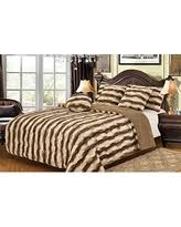 Tiger Comforter Set Bargains On Bellahome Safari Faux Fur Plush Throw Blanket