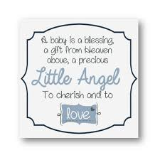 blessing baby nursery decor a baby is a blessing blue and grey