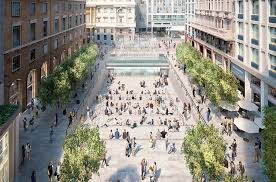 apple says new piazza liberty store in milan italy with waterfall