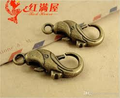 antique dolphin ring holder images 2018 24 16mm antique bronze alloy dolphin charm lobster clasp for jpg
