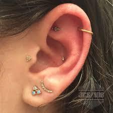 ear piercing earrings 50 unique and beautiful ear piercing ideas from minimalist studs